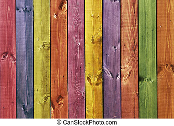 Texture - colored wooden boards - Texture - colored old...
