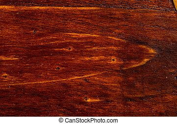 Dark Weathered Teak Wood With Copper