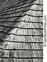 texture, de, a, bois, bardeau, toit
