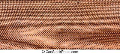 texture, de, a, rouges, toit