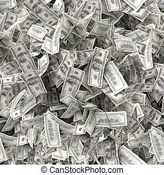 texture., dollars, honderd, seamless, een