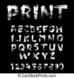 Texture font written by hand