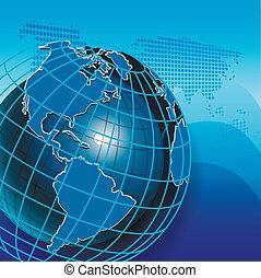 Texture Globe - illustration texture globe on net like blue...