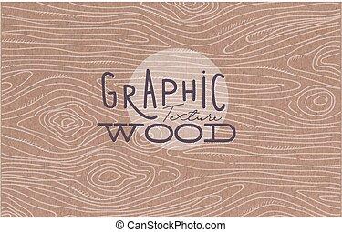 texture, graphique, brun, bois