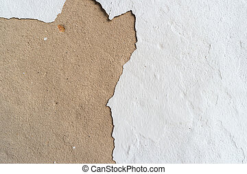 Texture gray and white plastered wall for background