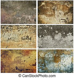 Texture grunge collection - Collection of six images with...