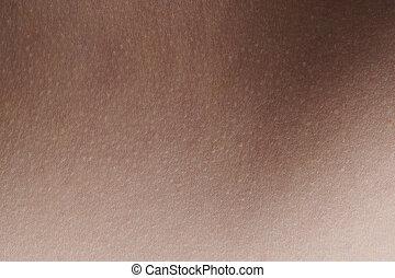 texture, humain, propre, peau, jeune