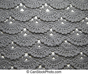 Texture knitted gray color