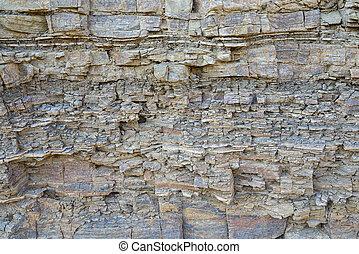 texture layers metamorphic rocks closeup