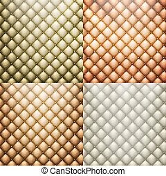 Texture leather set vector. EPS 10