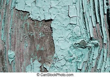 light blue paint peeled off the wood - Texture, light blue...