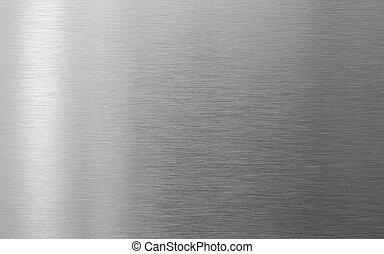 texture, métal, parfait, fond, acier