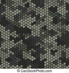 Texture military desert camouflage seamless pattern. Urban hexagon snakeskin