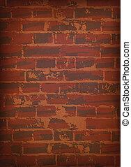 texture., mur, brique