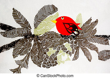 Texture of a Bird on the Nest