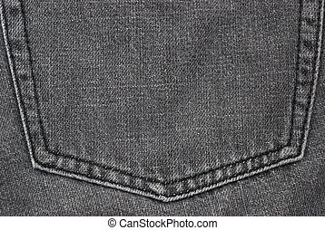 texture of a black jeans