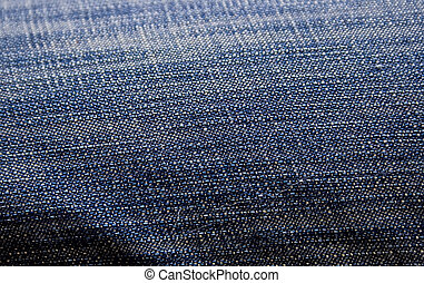 blue thick cloth fabric