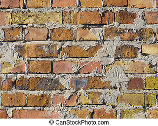 Texture of a brick wall with plaster