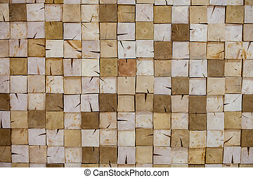 Texture of a cut square wood block.