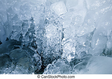 Texture of a frozen ice