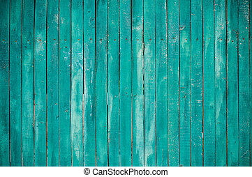 green wooden planks - Texture of a green wooden planks,...