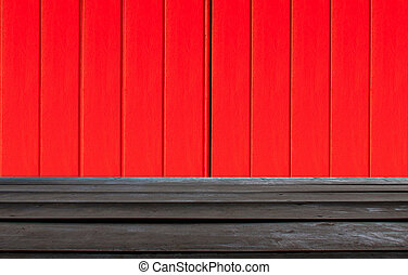 Texture of a red and black wooden