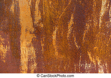 Texture of a rusty metal plate