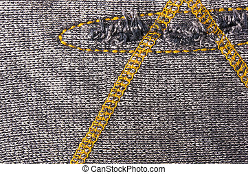 texture of a washed thick knit fabric