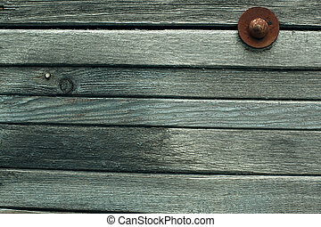 Texture of a wooden wall, an old planking board.