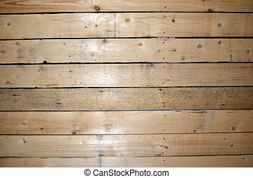 Texture of a wooden wall. Ceiling and wall boards.
