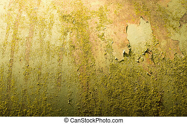 Texture of an old paint on a wooden bench