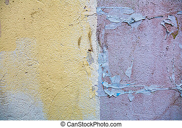 Texture of an old wall - Textured surface of an old cracked...
