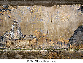 Texture of an old wall with cracks. Background