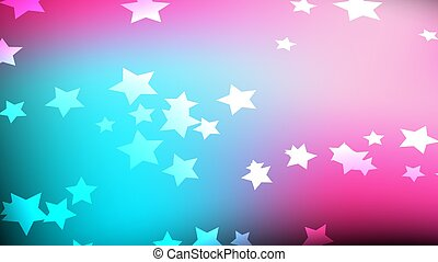 Texture of beautiful festive pentagonal cosmic magical multicolored colored bright motley galactic stars. The background.