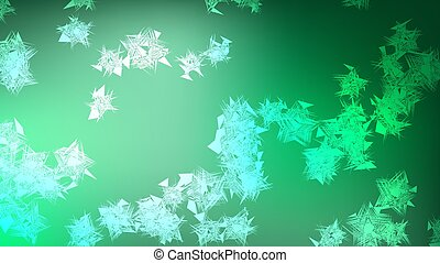 Texture of beautiful festive polygonal circular cosmic magical multi-colored colored far-away bright green mottled swirling geometric shapes, lines and copy space on a white vector background.