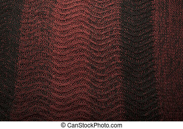 Texture of  black and red  wool sweater