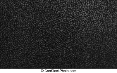 Texture of black leather.
