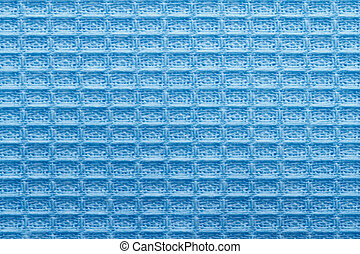 texture of blue linen kitchen towel