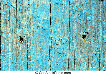 Texture of blue wood background closeup