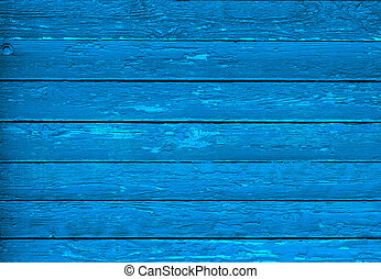 Texture of blue wood with scuffs. Vintage.