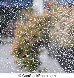 texture of broken glass