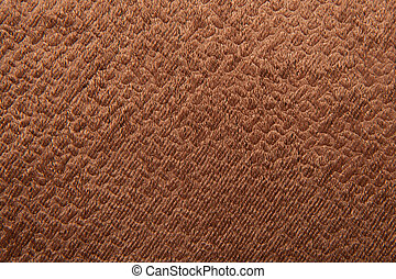 Texture of brown velvet fabric for background
