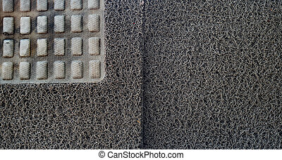 texture of carpet car on Drying rack.