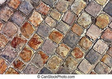 Texture of cobblestone background.Paris