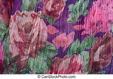 colorful floral fabric background