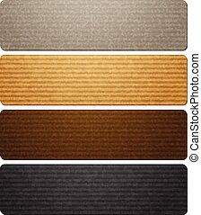 Texture of corrugated paperboard illustration