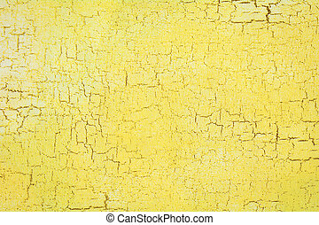 Texture of cracked yellow