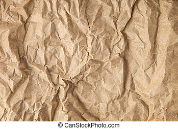 Texture of crumpled paper - Texture or background of old...