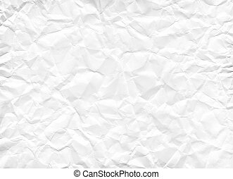 Texture of crumpled white paper