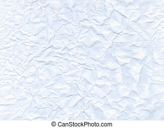 Texture of crumpled white paper. - Texture of crumpled white...